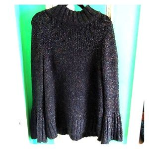 Bell-sleeved knit sweater